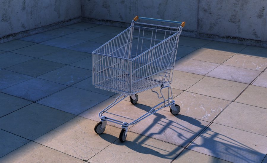One shopping cart