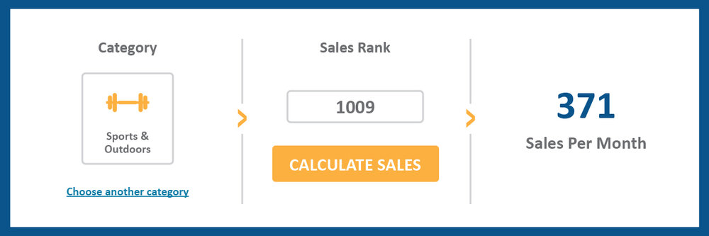 sports & outdoors category, sales rank, calculate sales