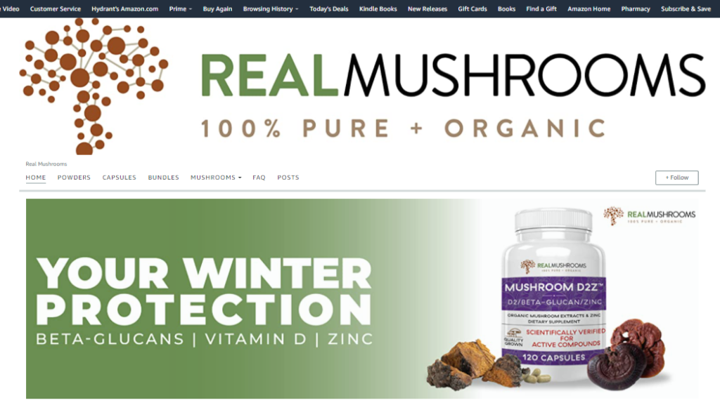 Amazon Stores Real Mushrooms
